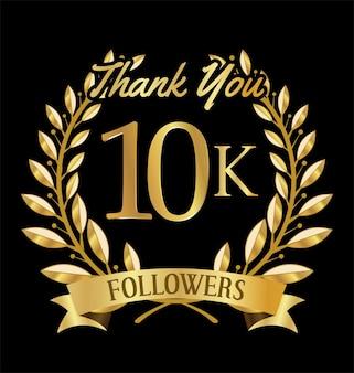 Illustrazione di 10.000 follower con grazie