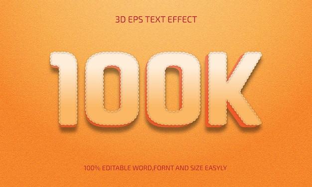 Stile effetto testo 3d modificabile da 100k
