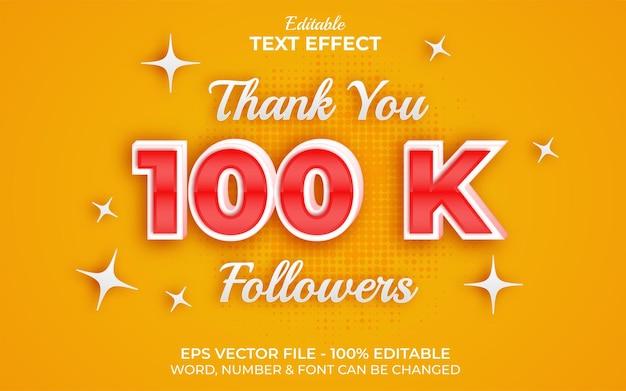 Stile effetto testo 100k follower effetto testo modificabile