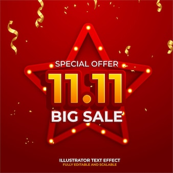 11.11 progettazione di poster o volantini di vendita di shopping online