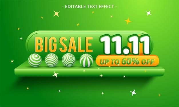 11.11 sfondo del banner di vendita del giorno dello shopping