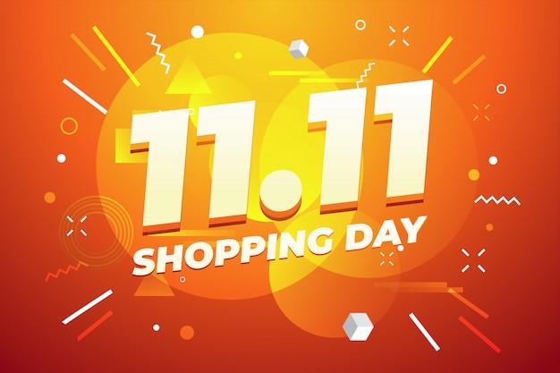 11.11 progettazione di poster o volantini in vendita giorno dello shopping.