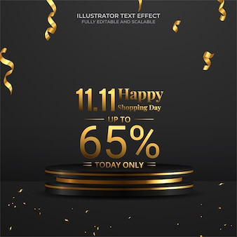 11.11 illustrazione vettoriale di banner super sale