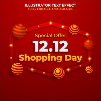 12.12 progettazione di poster o volantini di vendita di shopping online