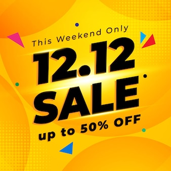 12.12 banner di vendita del giorno dello shopping
