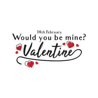 14 febbraio san valentino lettering tipografico arte nel vettore gratuito