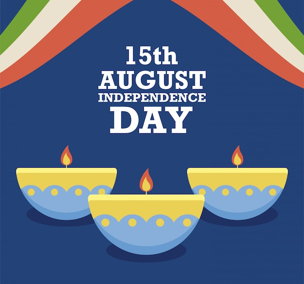 15 agosto festa dell'indipendenza con candele