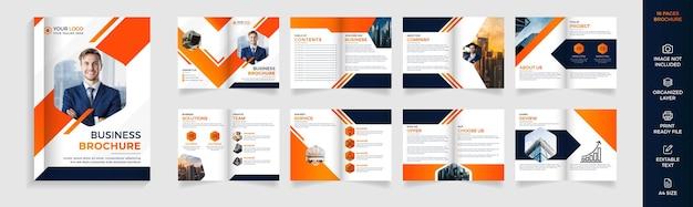 Modello di brochure aziendale aziendale di 16 pagine