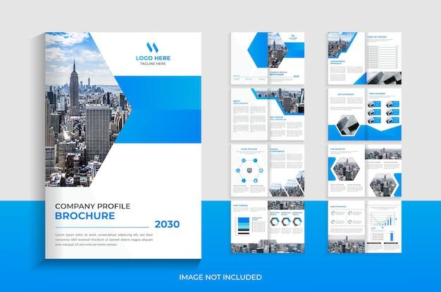 Modello di brochure del profilo aziendale di 16 pagine