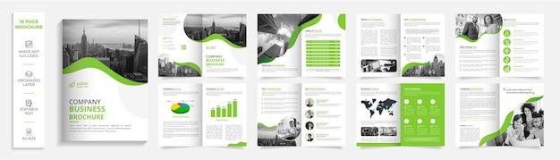 16 pagine aziendale moderno professionale bifold brochure design del profilo aziendale