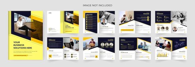Modello di progettazione brochure aziendale di 16 pagine