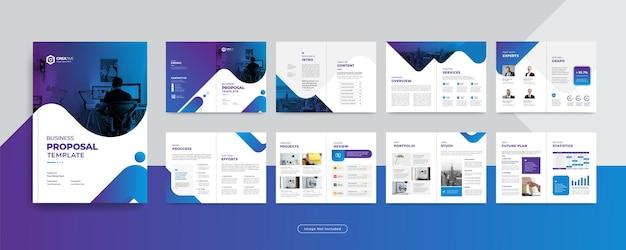 16 pagine modello di progettazione brochure aziendale aziendale relazione annuale o profilo aziendale per il marketing