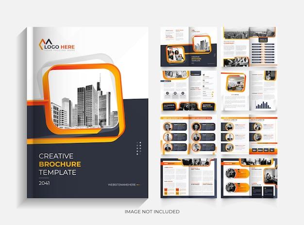 Modello di modello di brochure aziendale creativo di 16 pagine