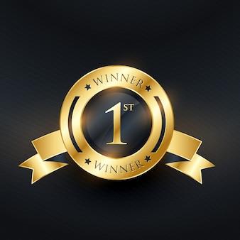 1 ° classificatore d'oro di rango numero uno