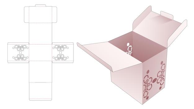 Scatola da 2 flip con modello fustellato di mandala stencil