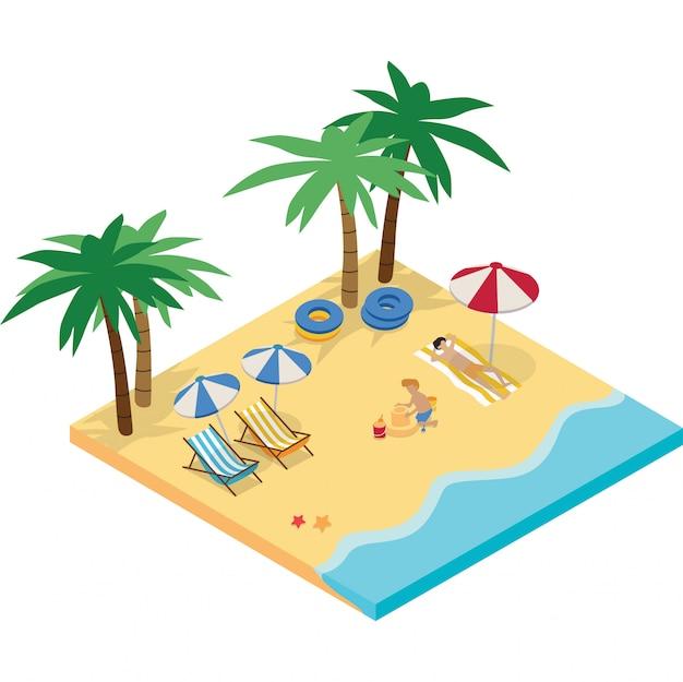2 persone si stanno godendo il loro tempo in spiaggia durante le vacanze