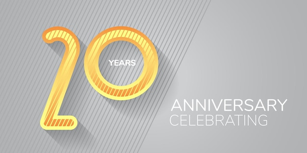 Logo dell'icona dell'anniversario di 20 anni