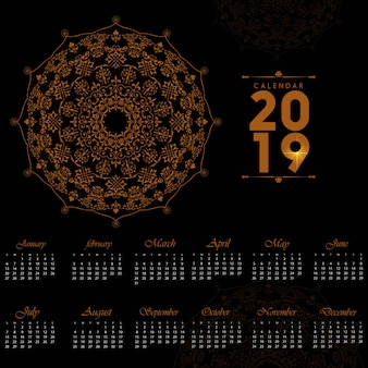 2019 design del calendario decorativo