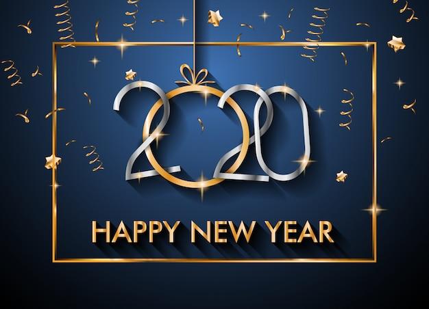 2020 happy new year background per i tuoi volantini stagionali e biglietto di auguri per natale