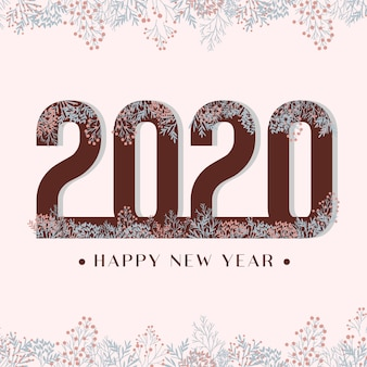 2020 felice anno nuovo fiore sfondo