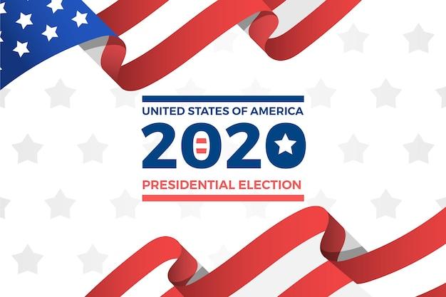 Sfondo delle elezioni presidenziali del 2020 negli stati uniti
