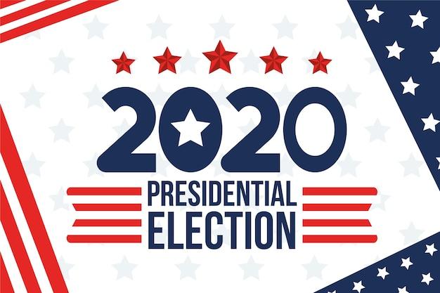 Sfondo delle elezioni presidenziali americane del 2020