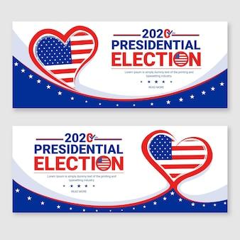 Modello di banner per le elezioni presidenziali americane 2020