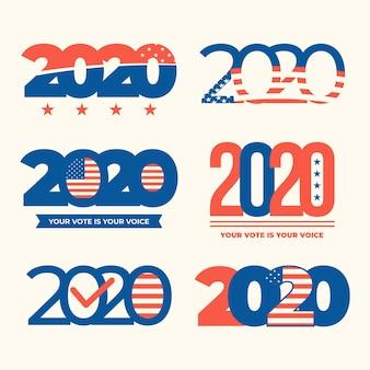 Loghi delle elezioni presidenziali americane del 2020