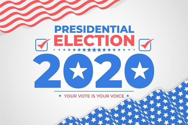 Sfondo delle elezioni presidenziali americane 2020
