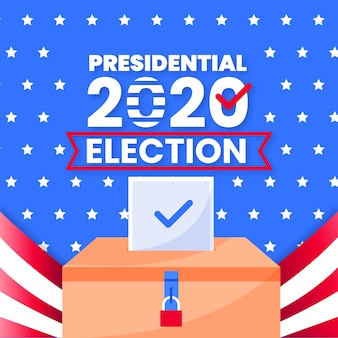 Elezioni presidenziali americane del 2020 con bandiera