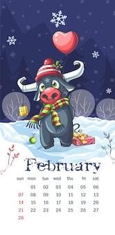Calendario 2021 febbraio