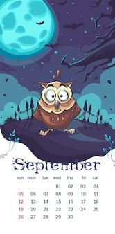 Calendario 2021 settembre