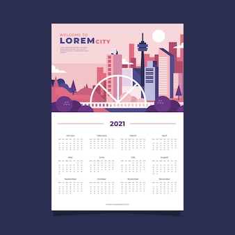 Modello di calendario 2021
