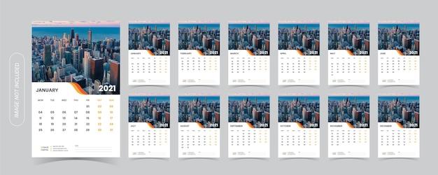 Illustrazione del calendario da tavolo 2021
