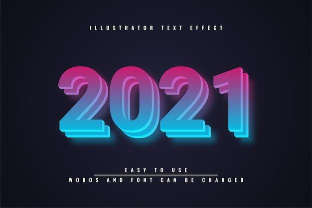 2021 - effetto di testo modificabile