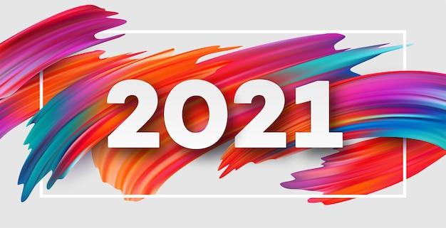 Priorità bassa di flusso di colore di felice anno nuovo 2021.