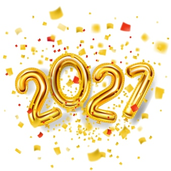 Fondo di festa della decorazione di felice anno nuovo 2021 oro