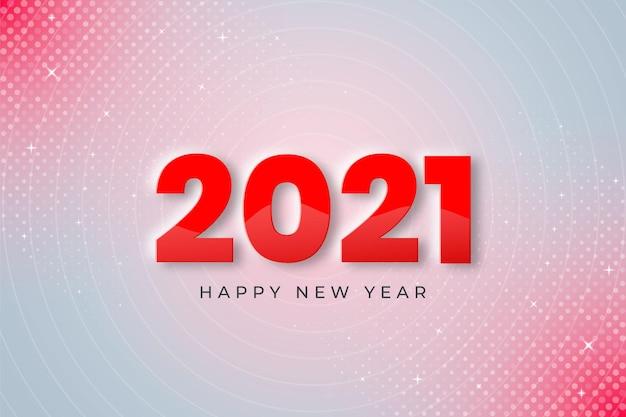 2021 anno nuovo su sfondo bianco