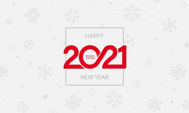 Bandiera dell'anno 2021. felice anno nuovo e buon natale concetto. vettore su sfondo bianco isolato. env 10.