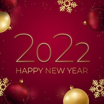 Sfondo di felice anno nuovo 2022