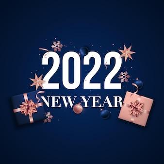 Banner di felice anno nuovo 2022