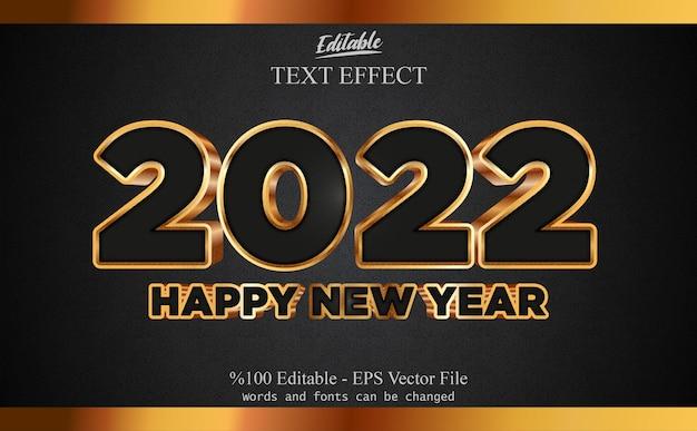2022 felice anno nuovo effetto testo modificabile con sfondo fantasia