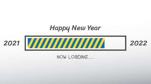 2022 felice anno nuovo. numeri 3d stile astratto. numeri lineari vettoriali. progettazione di biglietti di auguri. illustrazione vettoriale. vettore gratuito