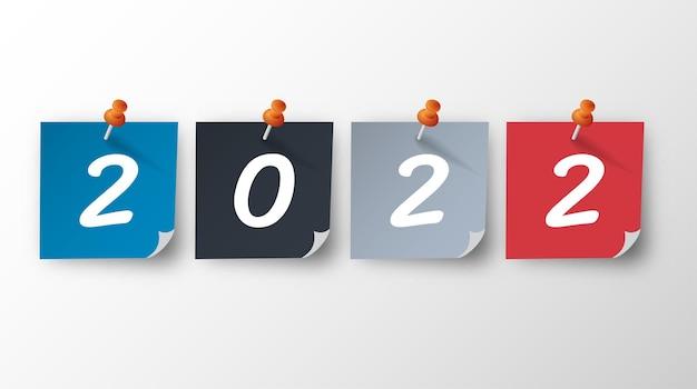 2022 felice anno nuovo. numeri in stile 3d. numeri lineari vettoriali. progettazione di biglietti di auguri. illustrazione vettoriale. vettore gratuito.