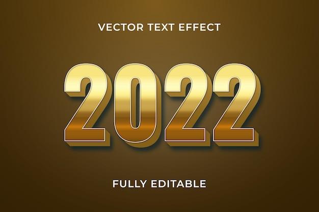 2022 felice anno nuovo effetto testo photoshop