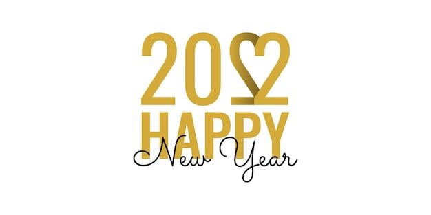 Disegno del modello di illustrazione di felice anno nuovo 2022