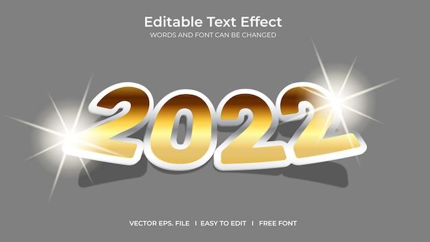 Modello di effetto testo modificabile per illustratore 2022