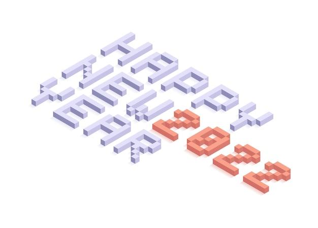 2022 anno nuovo isometrica illustrazione vettoriale art. minimal 2022 vector elementi decorativi per le vacanze per design, cartoline, biglietti di auguri e inviti o volantini