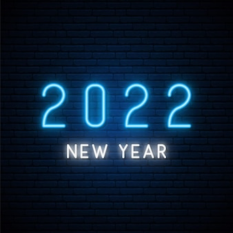 Insegna al neon di capodanno 2022