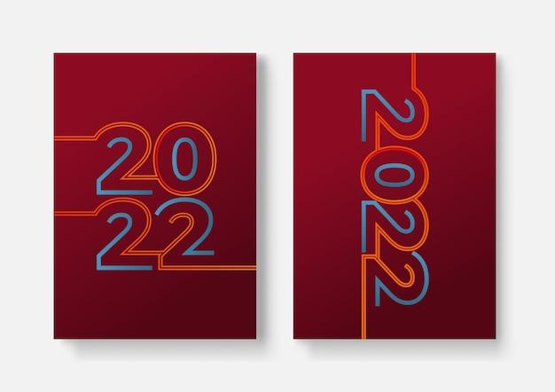 Modello di progettazione 2022 con spazio di copia. tipografia forte. colorato e facile da ricordare. design per branding, presentazione, portfolio, affari, istruzione, banner. vettore, illustrazione